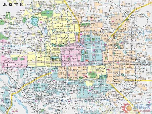 北京地图 -印刷, 北京地图