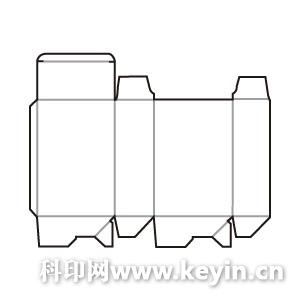 该软件自动生成的部分纸盒结构展开图包装印刷